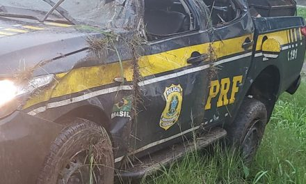 Viatura capota e agente da PRF morre na BR-316, em Castanhal
