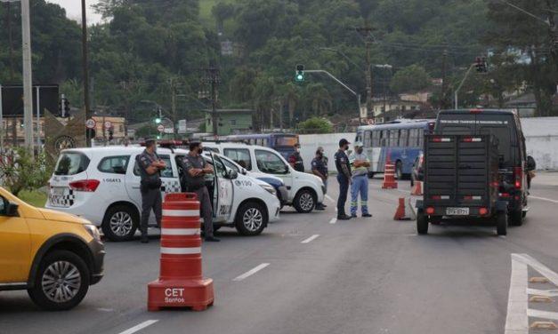 Santos instala barreiras sanitárias de combate à Covid-19 pelo 2º fim de semana