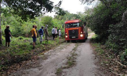 Aérea de mata na Fazenda da Esperança pega fogo em Bragança
