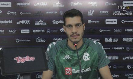 """""""Importante para nós"""": Lucas Siqueira foca em conquista inédita da Copa Verde para o Remo"""