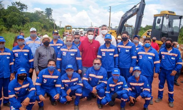 Máquinas já iniciam obra de asfalto da PA-256 entre Tailândia e Tomé-Açu