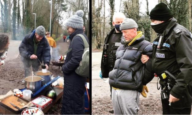 Inglês é preso por aglomeração sem máscara ao distribuir sopas por caridade