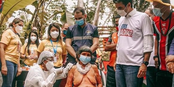 Vacinação indígena: mais de 60% do público-alvo já recebeu a primeira dose