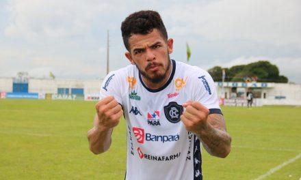 """Fredson comemora primeiro gol no Parazão e mira terceira vitória: """"Confiança pra seguir em alta"""""""