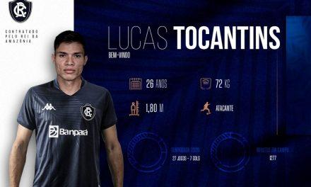 Lucas Tocantins é oficializado no Remo e tem chegada marcada para esta quarta-feira
