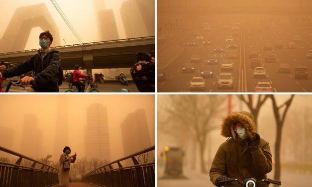 China sofre com pior tempestade de areia em uma década; fotos