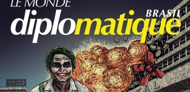 Capa do Le Monde Brasil transforma Bolsonaro em Coringa explodindo hospital