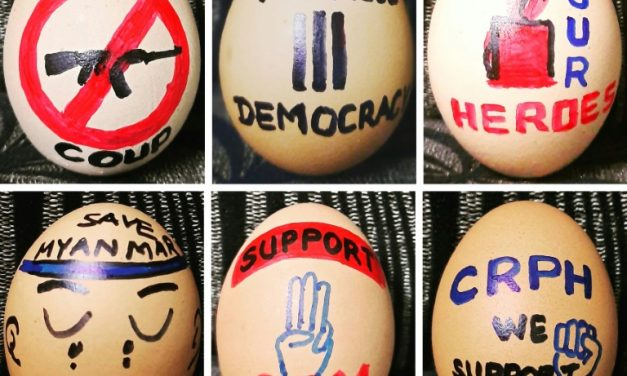 Opositores criam ovos de Páscoa com mensagens de repúdio ao golpe em Mianmar