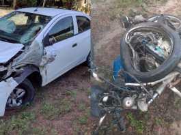 Colisão entre carro e moto deixa uma pessoa morta em Abaetetuba