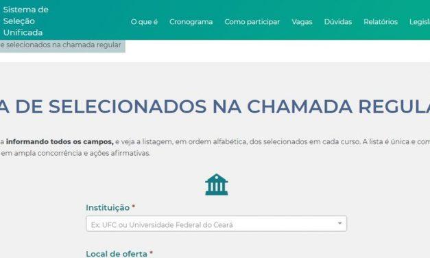 Sisu divulga resultado para vagas em universidades públicas e abre lista de espera