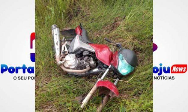PM encontra moto abandonada sem as rodas em Moju
