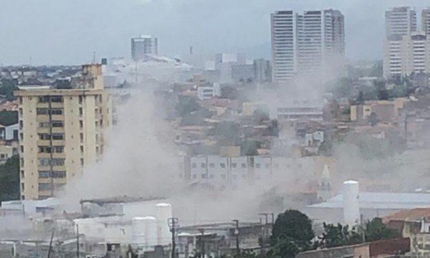 Explosão é registrada em empresa de oxigênio em Fortaleza e deixa feridos