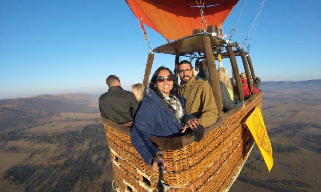 Passeio de balão é atração nos cânions do Sul do Brasil