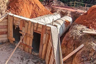 Setran prossegue com obras de construção e pavimentação da Perna Leste