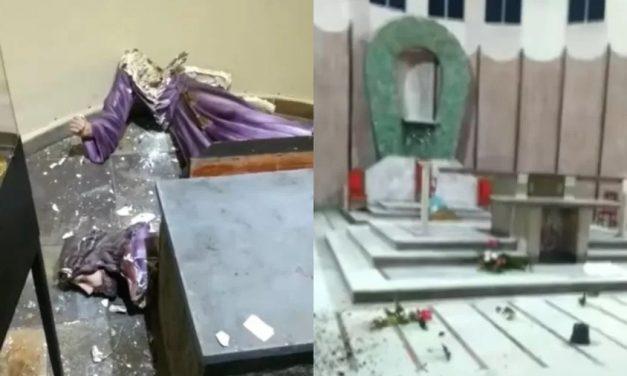 Grupo entra em igreja católica e destrói imagens religiosas em Osasco (SP)