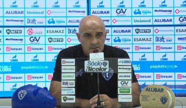 """Itamar elogia jogo do Paysandu e destaca atletas """"desacreditados"""": """"Procuro sempre valorizar"""""""