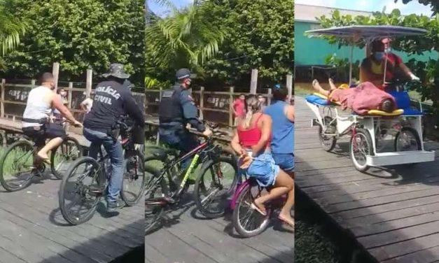 Assaltantes trocam tiros com a polícia e são conduzidos de bicicleta para hospital no Marajó
