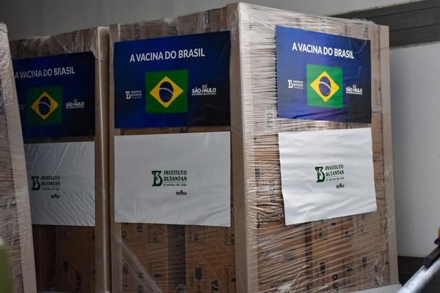 Butantan entrega 2 milhões de doses da CoronaVac ao Ministério da Saúde nesta segunda