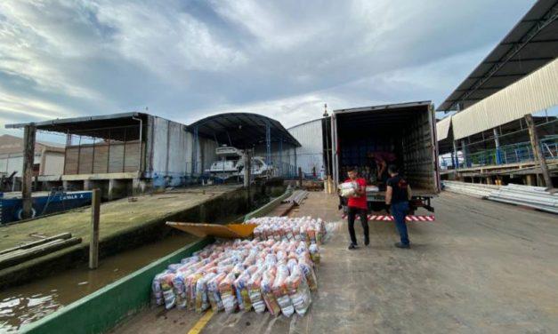 Segup arrecada mais de 4,5 toneladas de alimentos e distribui para região das ilhas e Marajó