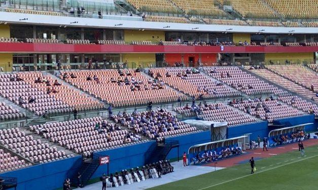 Federação Amazonense de Futebol faz teste de público na Arena da Amazônia