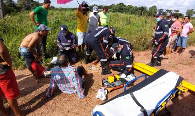 Acidente deixa três pessoas feridas na BR 308 em Bragança do Pará