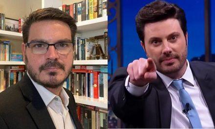 "Danilo Gentili zomba de Rodrigo Constantino: ""Seu Barriga do Bolsonarismo"""