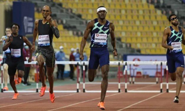 Alison Santos quebra recorde e é 2º nos 400m com barreiras em Doha