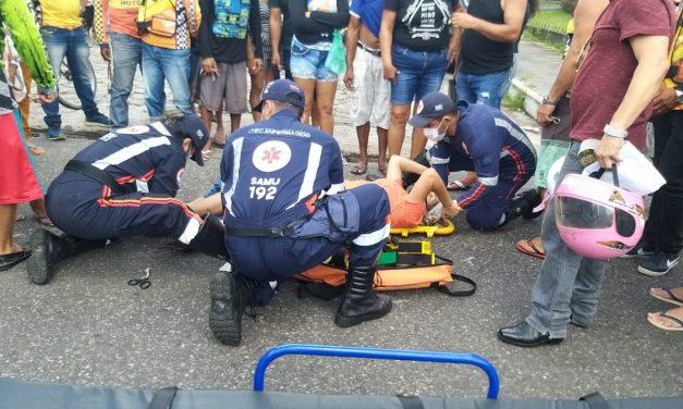 Acidente deixa duas pessoas feridas em Bragança-Pa