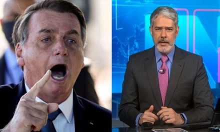 William Bonner desmente Bolsonaro ao vivo no JN
