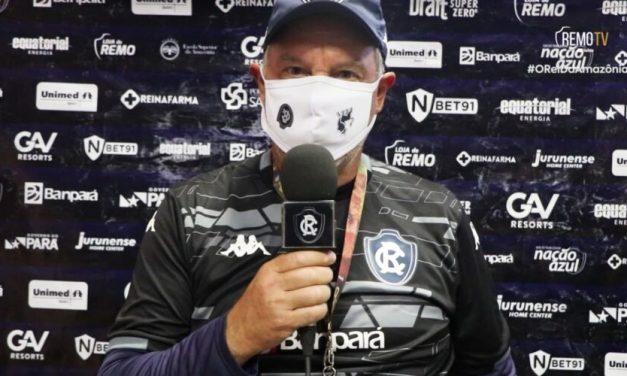 Bonamigo avalia atuação do Clube do Remo contra Atlético-MG