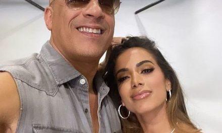 Anitta posa com Vin Diesel após confirmar música em 'Velozes e Furiosos'