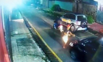 Motorista atropela criminoso após tentativa de assalto na Cidade Nova