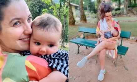 """Mãe de primeira viagem, Nathalia Dill fala sobre puerpério: """"Se despedindo da vida que tinha"""""""