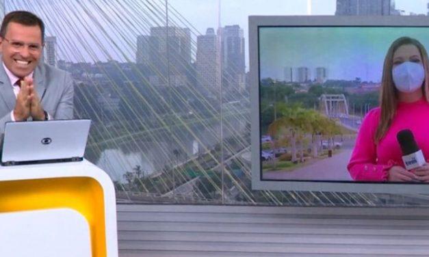 Repórter da Globo cobra Santo Antônio e é consolada por Bocardi: 'Tenha paciência'