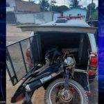 Policiais Militares recuperam moto roubada em Moju, neste domingo