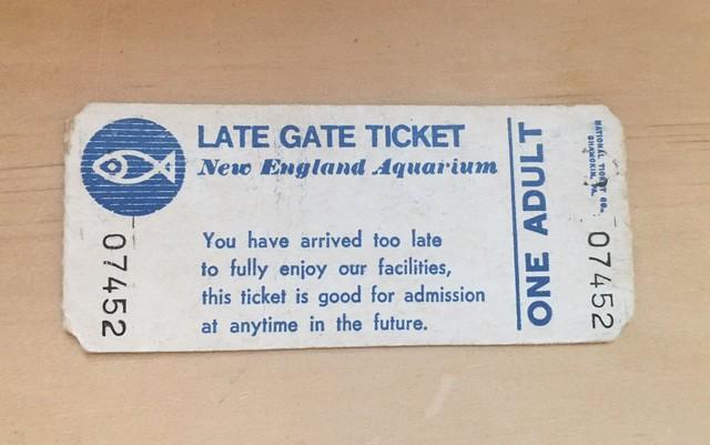 Aquário nos EUA aceita ingresso guardado durante 37 anos
