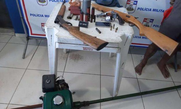 PM apreende armas de fogo durante operação em Cametá