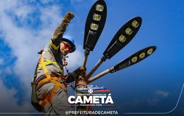 Iluminação pública em led é realidade no bairro Nova Cametá