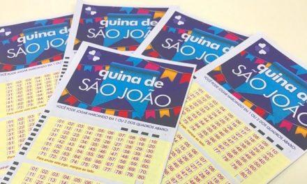 Quina de São João: oito apostas dividem prêmio de mais de R$ 200 milhões