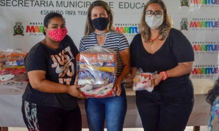 Alunos da rede municipal de Marituba começam a receber kits da merenda escolar