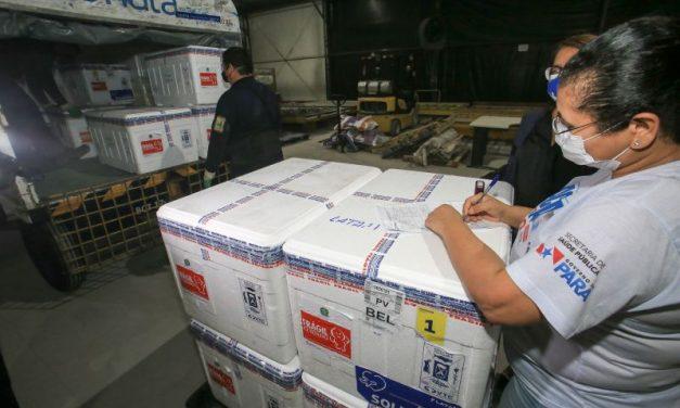 Pará recebe mais 29.800 doses de vacinas contra Covid-19