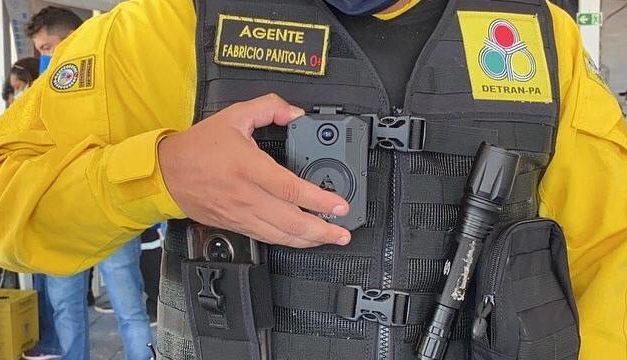 Agentes de segurança utilizam câmeras corporais em Salinópolis