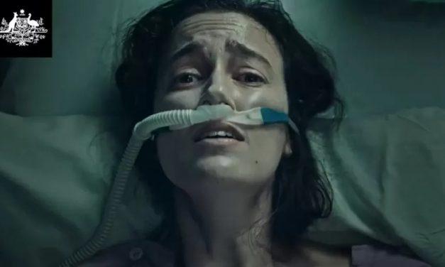 Covid: Propaganda na Austrália com imagem 'chocante' de paciente gera polêmica