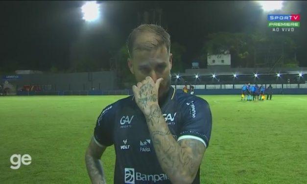 """Marcos Jr. volta a jogar, marca gol da vitória do Remo e se emociona: """"Foram quatro meses duros"""""""