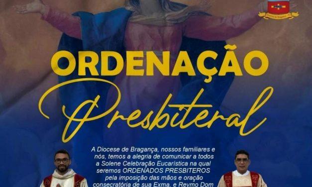 Diocese de Bragança ordenará dois sacerdotes