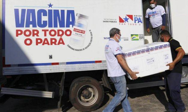 Pará recebe mais 120.400 mil doses de vacinas contra a Covid-19