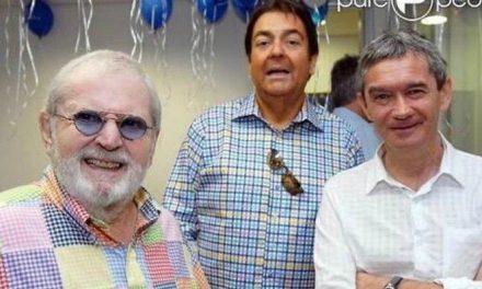 """Serginho Groisman publicou foto ao lado de Faustão e Jô Soares: """"Que trio"""""""