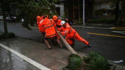 Leste da China paralisa com aproximação do tufão In-Fa