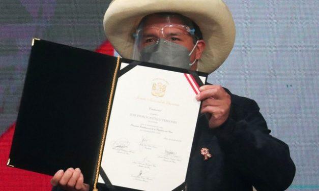 EUA felicitam Pedro Castillo, presidente eleito do Peru; posse terá 10 mil policiais