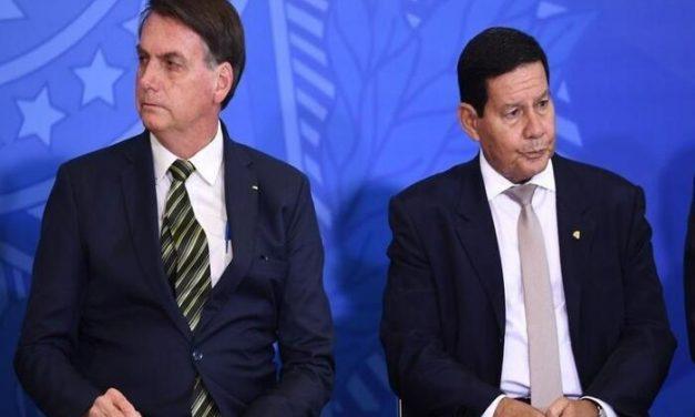 Mourão evita responder crítica feita por Bolsonaro: 'Sem comentários'